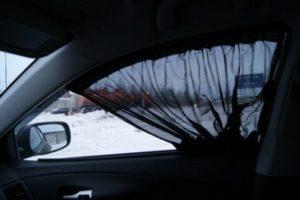 Штраф за шторки на боковые окна авто