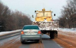 Обгон тихоходных транспортных средств