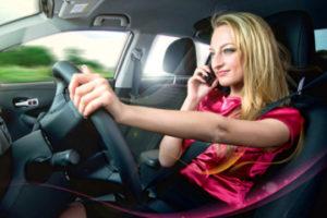 Штраф за разговор по телефону за рулем