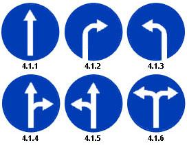 Дорожные знаки разворот поворот