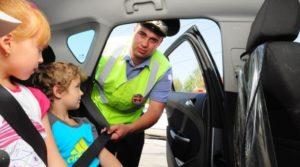 Штраф за непристегнутых детей в 2020