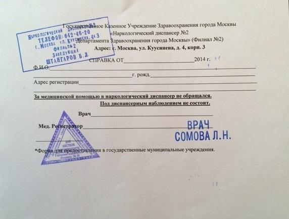 Медкомиссия на водительские права с психиатром и наркологом
